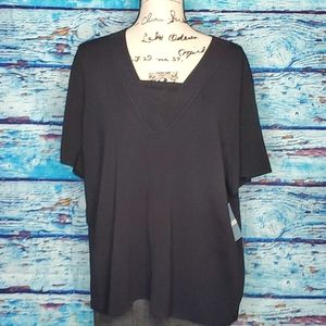 NWT Cable & Gauge Black 3XL Top